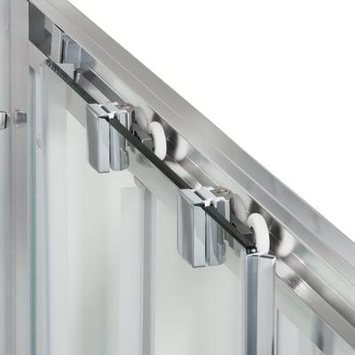 Box doccia scorrevole Quad 87.5-89, H 190 cm cristallo 6 mm trasparente/silver