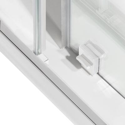 Porta doccia scorrevole Record 167-171, H 195 cm vetro temperato 6 mm satinato/bianco opaco