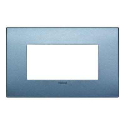 Placca 4 moduli Vimar Arké blu matt