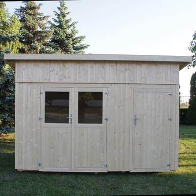 casetta in legno grezzo Horn 8,35 m², spessore 19 mm