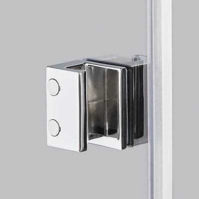 Doccia con porta pieghevole e lato fisso Neo 82 - 86 x 77 - 79 cm, H 201,7 cm vetro temperato 6 mm serigrafato/bianco opaco