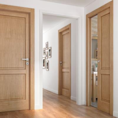 Porta da interno battente Bernini rovere miele 60 x H 210 cm sx