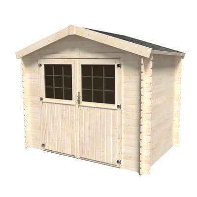 casetta in legno grezzo Narciso 3,73 m², spessore 19 mm