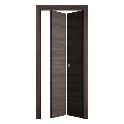 Porta da interno pieghevole Stenophylla Cacao 80 x H 210 cm dx