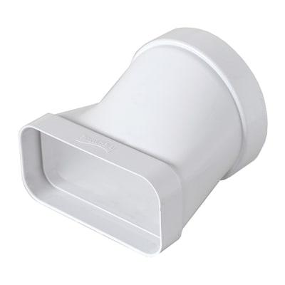 Raccordo piatto/tondo per tubo con diametro 10 cm L 6 - 12 cm