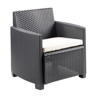 Set 2 poltrone /1 divano a 2 posti lipari antracite