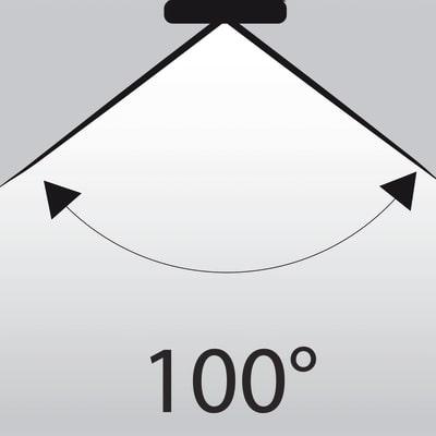 Lampadina LED Glass GU10 =50W luce fredda 100°