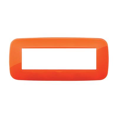 Placca 7 moduli Vimar Arké orange reflex