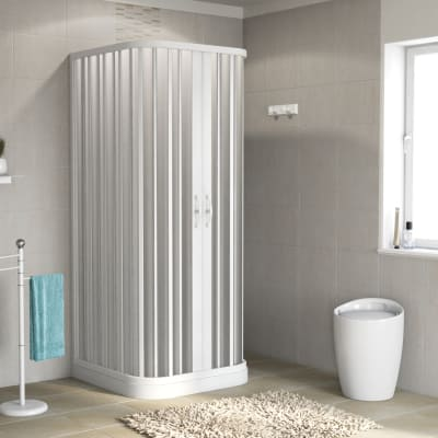 Box doccia scorrevole Playa 80-80 x 80-80, H 185 cm PVC 2 mm stampato
