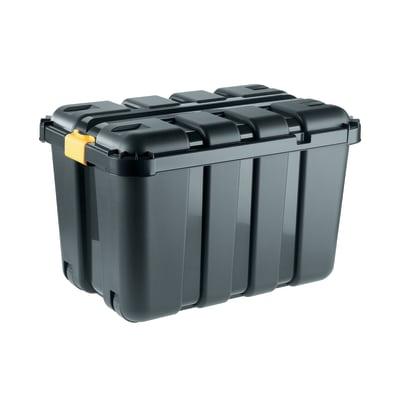 Baule Boxone L 79 x P 52 x H 52 cm giallo, nero