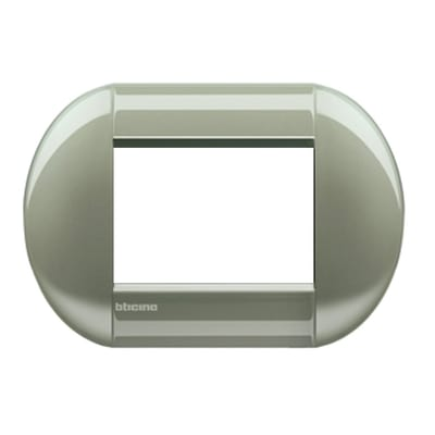 Placca 3 moduli BTicino Livinglight titanio
