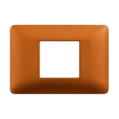 Placca 2 moduli BTicino Matix rosso terra