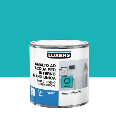 Smalto manounica Luxens all'acqua Blu Miami 3 opaco 0.5 L
