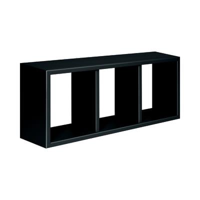 Rettangolo con ripiani Spaceo nero L 70 x P 15,5, sp 1,8 cm