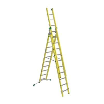 Scala sfilo alluminio Facal 10+11+11 gradini, per lavori fino a 9 m
