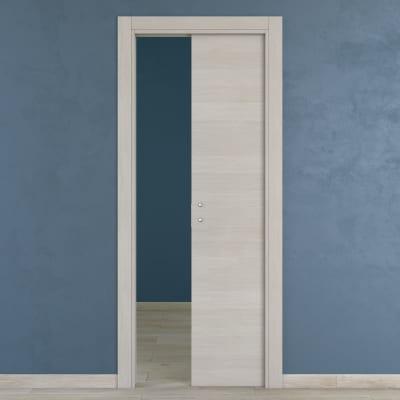 Porta da interno scorrevole One ecrù 70 x H 210 cm reversibile