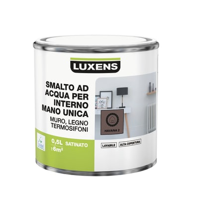 Smalto manounica Luxens all'acqua Marrone Havana 2 satinato 0.5 L