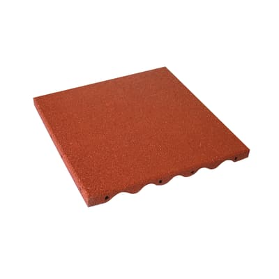 Piastrella Antishock 50 x 50  cm x 35  mm rosso