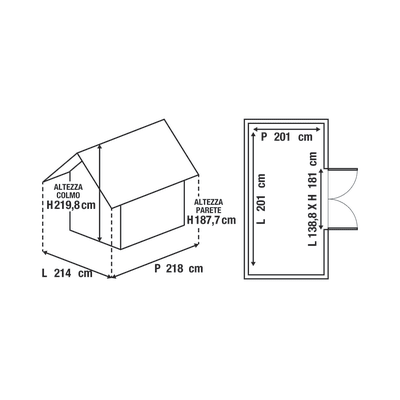 casetta in polipropilene Artisan 7x7 4,04 m²