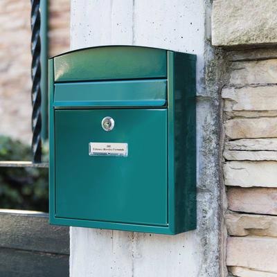 Cassetta postale singola formato lettera l 24 x h 28 5 x for Numeri adesivi leroy merlin