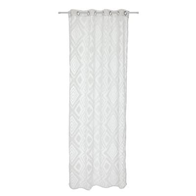 Tenda Devoreè rombi bianco 140 x 290 cm