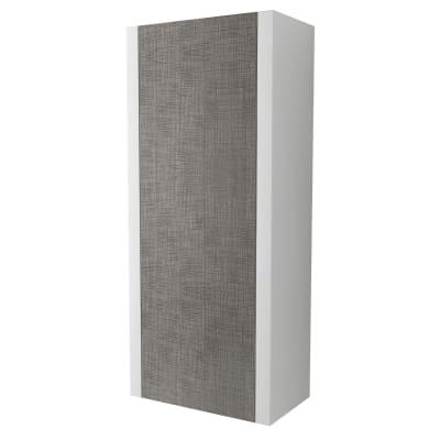 Colonna Roxanne bianco 1 anta L 44 x H 100 x P 25 cm
