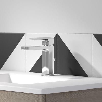 Mobile bagno Neo Line L 90 x P 48 x H 64 cm 2 cassetti rovere grigio