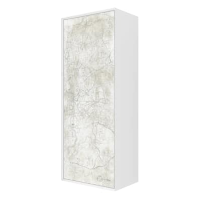Colonna Venus bianco vintage 1 anta L 40 x H 100 x P 25 cm