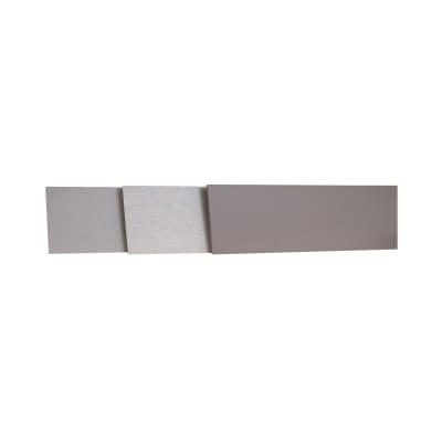 Alzatina su misura laminato bianco lucido H 10 cm