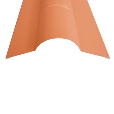 Colmo Lastra Corinzio in acciaio color rosso coppo, L 200 cm