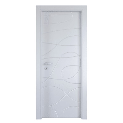 Porta da interno battente Wind white bianco 80 x H 210 cm dx