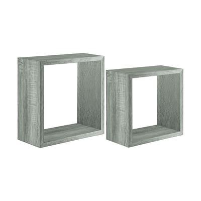 Set 2 cubi Spaceo rovere grigio, sp 2,2 cm