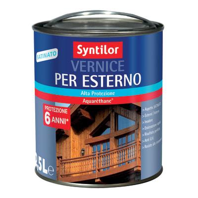 Vernice per esterno ad acqua Syntilor incolore satinato 2,5 L