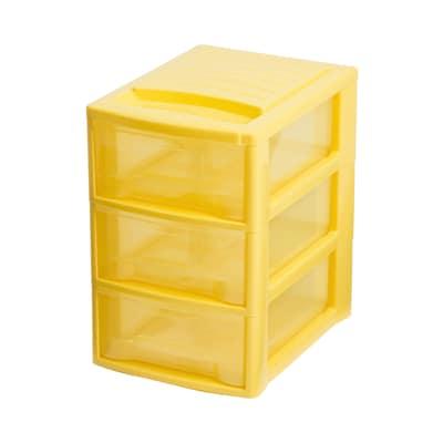 Cassettiera Empire giallo