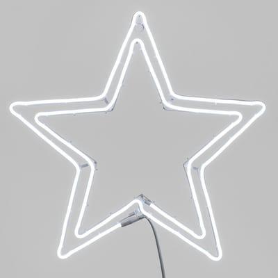 Decorazione luminosa stella doppio profilo 480 minilucciole Led bianca fredda 4 m