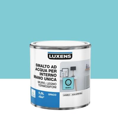 Smalto manounica Luxens all'acqua Blu Miami 5 opaco 0.5 L
