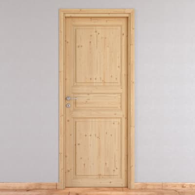 Porta da interno battente beethoven grezza 60 x h 210 cm for Porte interne leroy merlin
