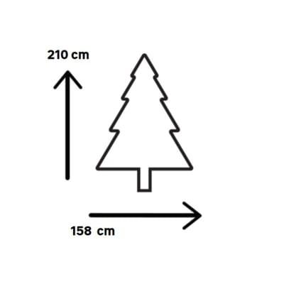 Albero di Natale artificiale Victoria H 210 cm