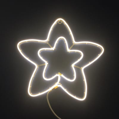 Decorazione luminosa stella 360 Led classica gialla 1,5 m