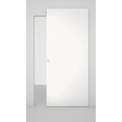 Porta da interno scorrevole Space binario nascosto laccato bianco 101 x H 230 cm dx