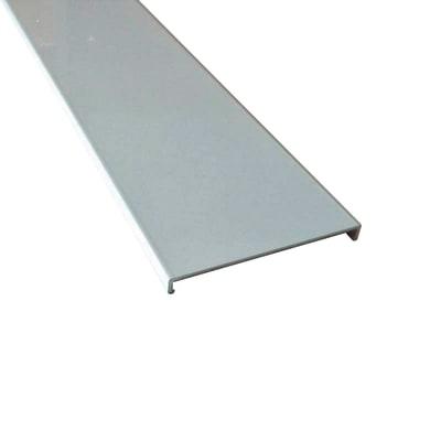 Profilo perimetrale ReadyBlock GlassCover quadro satinato alluminio 2,5 m, 8,53 x 0,75 cm