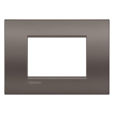Placca 3 moduli BTicino Livinglight Air Marrone