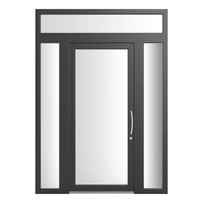 portoncino d'ingresso PVC Condo23 grigio L 170 x H 250 sx