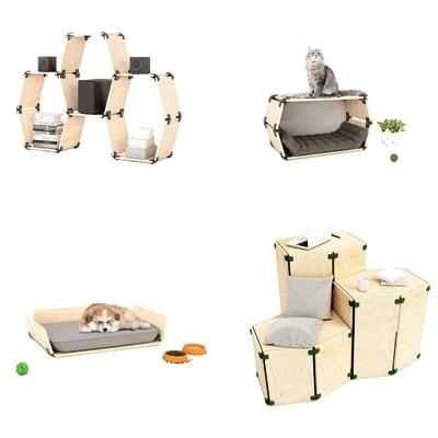4 connettori Playwood 150° per pannelli in legno in plastica hi-tech verdone