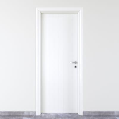 Porta da interno battente Pvc white bianco 90 x H 210 cm sx