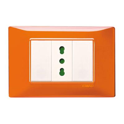 Placca 3 moduli Vimar Plana arancio