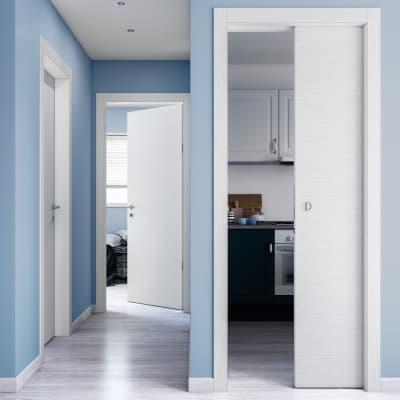 Porta da interno scorrevole Kent 80 x H 210 cm reversibile