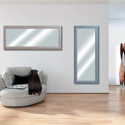 Specchio da parete rettangolare glitterata bianco 42 x 132 - Specchio rettangolare da parete ...