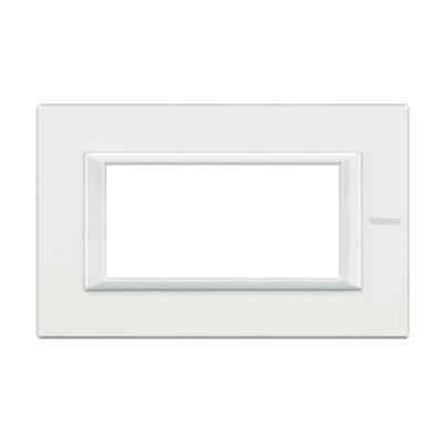 Placca 4 moduli BTicino Axolute bianco