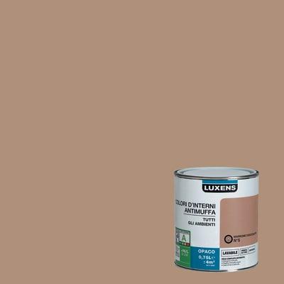 Idropittura lavabile Antimuffa Marrone Cioccolato 5 - 0,75 L Luxens